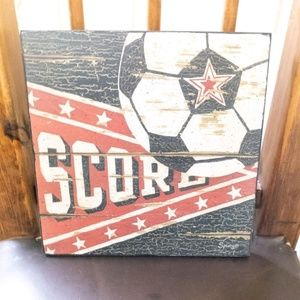 Other - Rustic wood soccer wall art